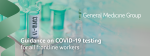 COVID-19 testing now available for our doctors