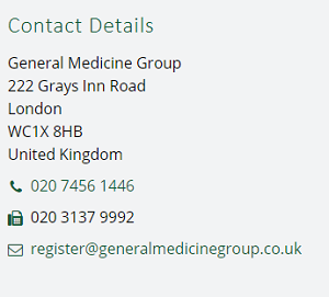 Contact General Medicine Group